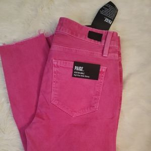 Hot Pink Paige Hoxton High Rise Jeans
